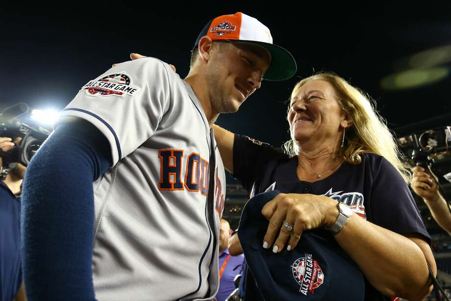 PHOTOS: A look at Alex Bregman accepting his MVP award and giving the Camaro to his mom WASHINGTON, D.C. - JULY 17: Alex Bregman #2 of the Houston Astros celebrates with his mother after winning the Ted Williams Most Valuable Player Award during the 89th MLB All-Star Game at Nationals Park on Tuesday, July 17, 2018 in Washington, D.C. Browse through the photos above for a look at Alex Bregman after the All-Star Game. Photo: Adam Glanzman/MLB Photos Via Getty Images