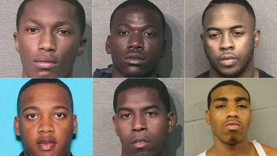 Six men, who are documented gang members or known to have those affiliations, were arrested after a multi-agency investigation linked to ATM thefts in Montgomery and Harris Counties. Photo: MCSO