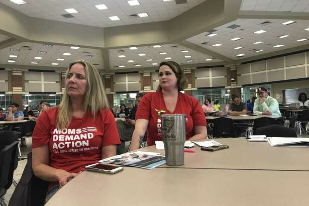 Michelle Huntley, left, and Allison Harvey are happy with the Clear Creek ISD Safety Committee's recommendation to not use school Marshal or Guardian programs in the district to arm teachers and staff members. The committee's decision not to recommend use of metal detectors, however, has drawn opposition, including from an online petition with 1,800 signatures.