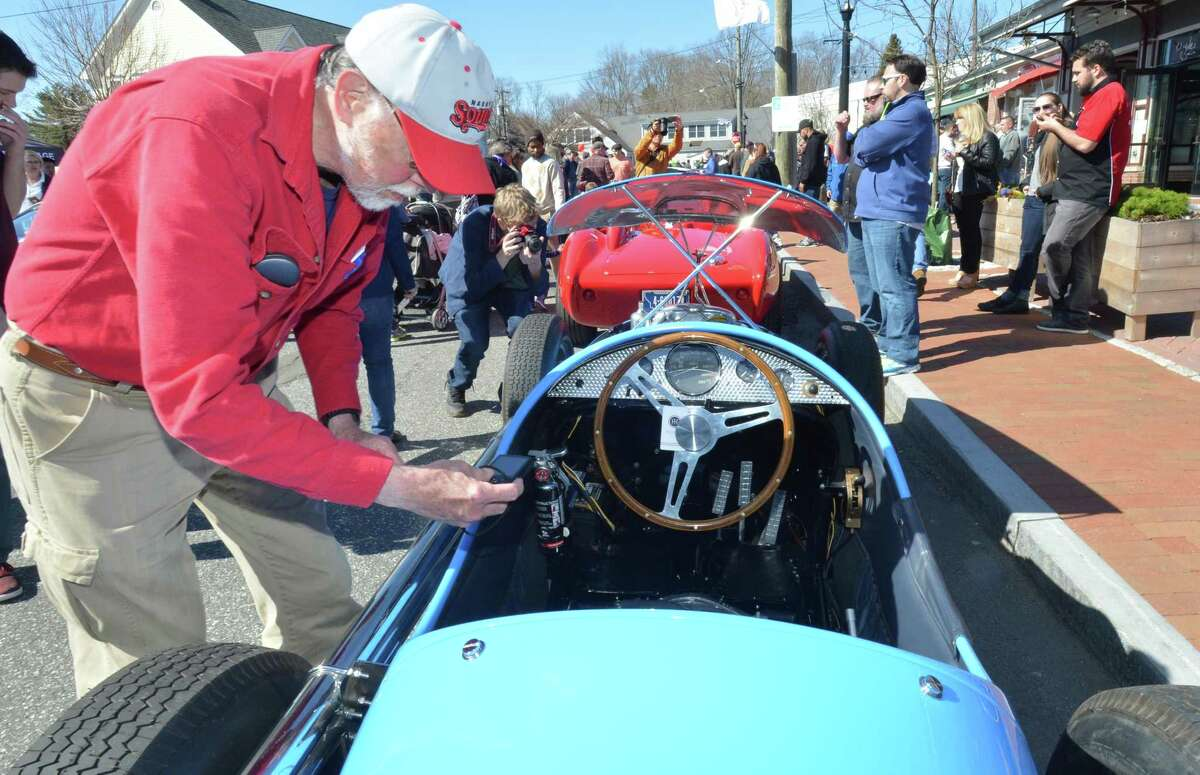 Caffeine and Carburetors 2018 Season Opener including Strada Italiana, The best of Italy on Elm. Thousands enjoyed a morning viewing beautiful cars during the fisrt gathering of the season on Sunday April 22, 2018 in downtown New Canaan Conn.
