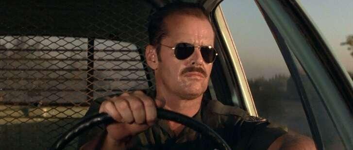 "Jack Nicholson stars in the film ""The Border."""