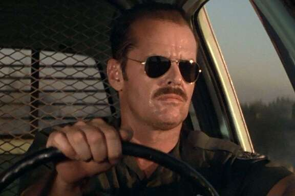 "Jack Nicholson stars in the film ""The Border."""