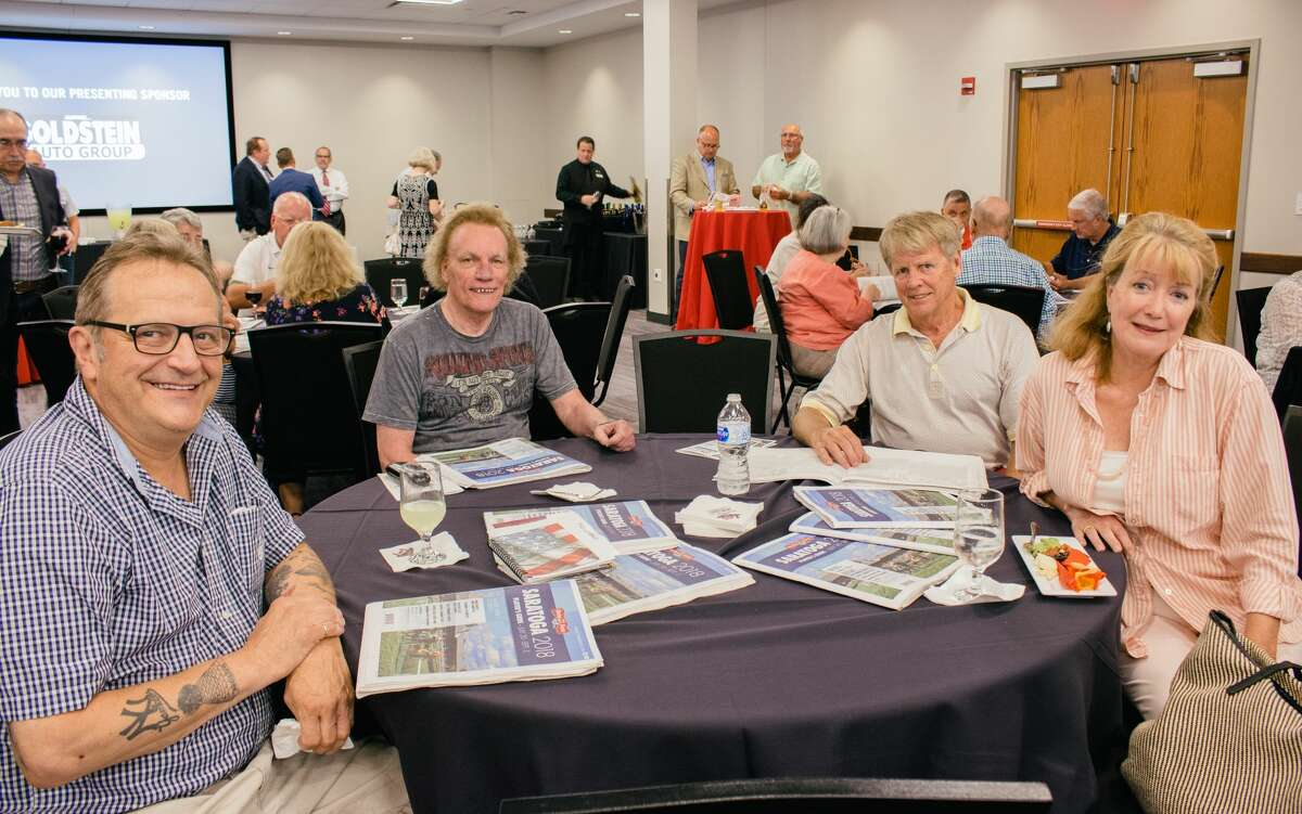 """Were you Seen at the Goldstein Auto Group-sponsored """"On Track: A Preview of the Saratoga Racing Season"""" at the Hearst Media Center July 17 featuring Tom Durkin, retired thoroughbred horse racing announcer; Rich Migliore, retired jockey and racing analyst; and Seth Merrow, OTB handicapper and host of """"Racing Across America"""" as well as the Times Union's lead horse racing writer, Tim Wilkin, and photographer, Skip Dickstein?"""