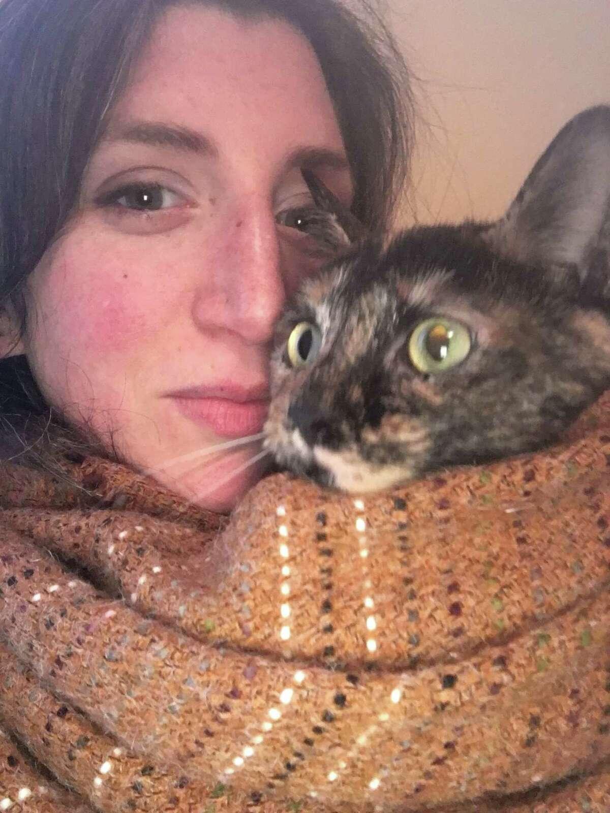 Zan Strumfeld and her kitten, Chamomile. (Provided)