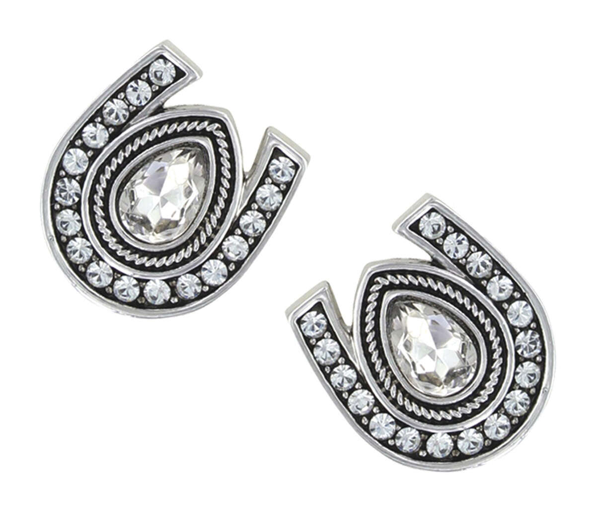 Montana Silversmiths horseshoe earrings, available at The Cheshire Horse. (Provided)