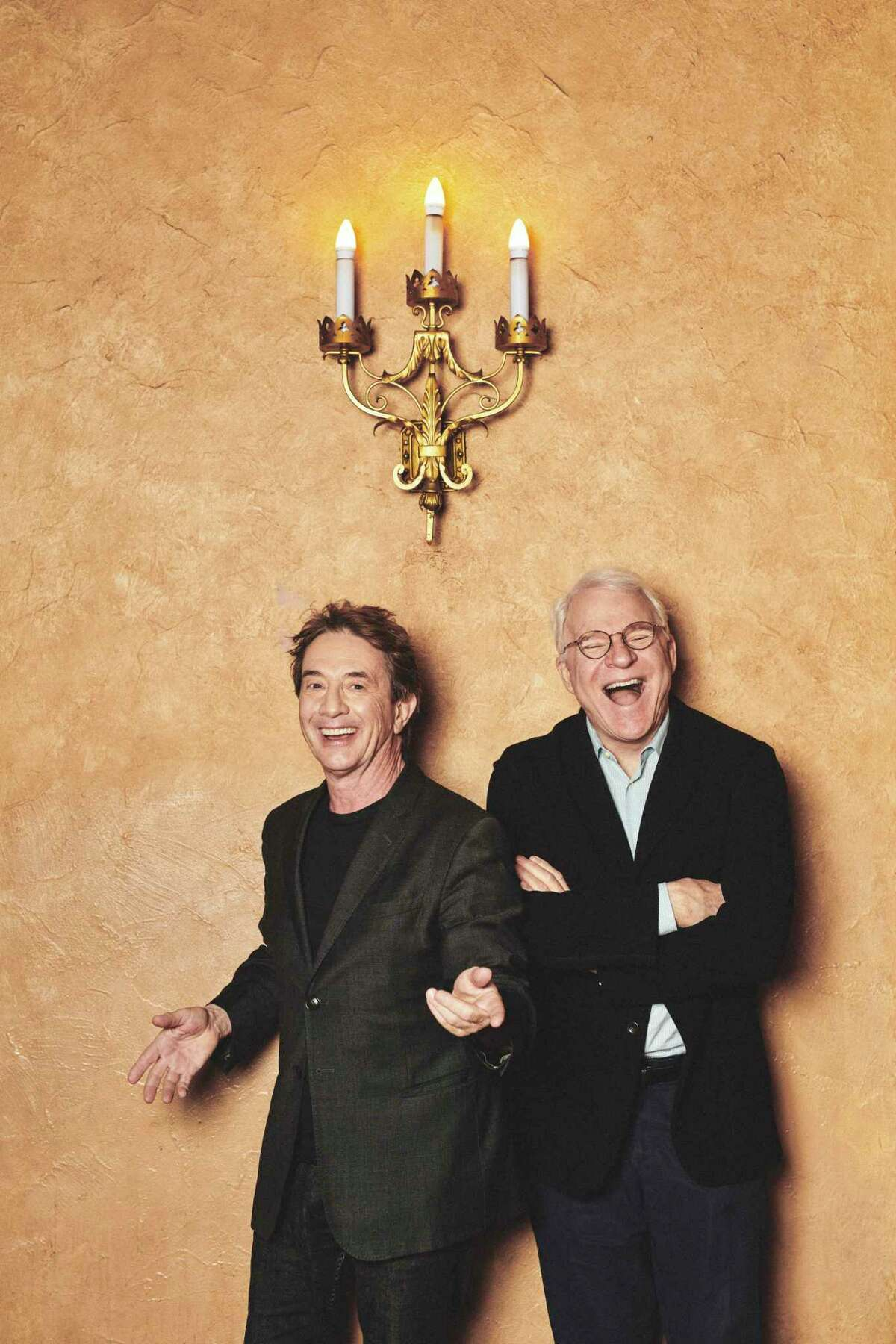 """Martin Short, left, and Steve Martin at the Beacon Theater in New York, May 5, 2018. The two comics?' latest adventure is a Netflix special of their show, ?""""AN Evening You Will Forget for the Rest of Your Life.?"""" (Bryan Derballa/The New York Times)"""