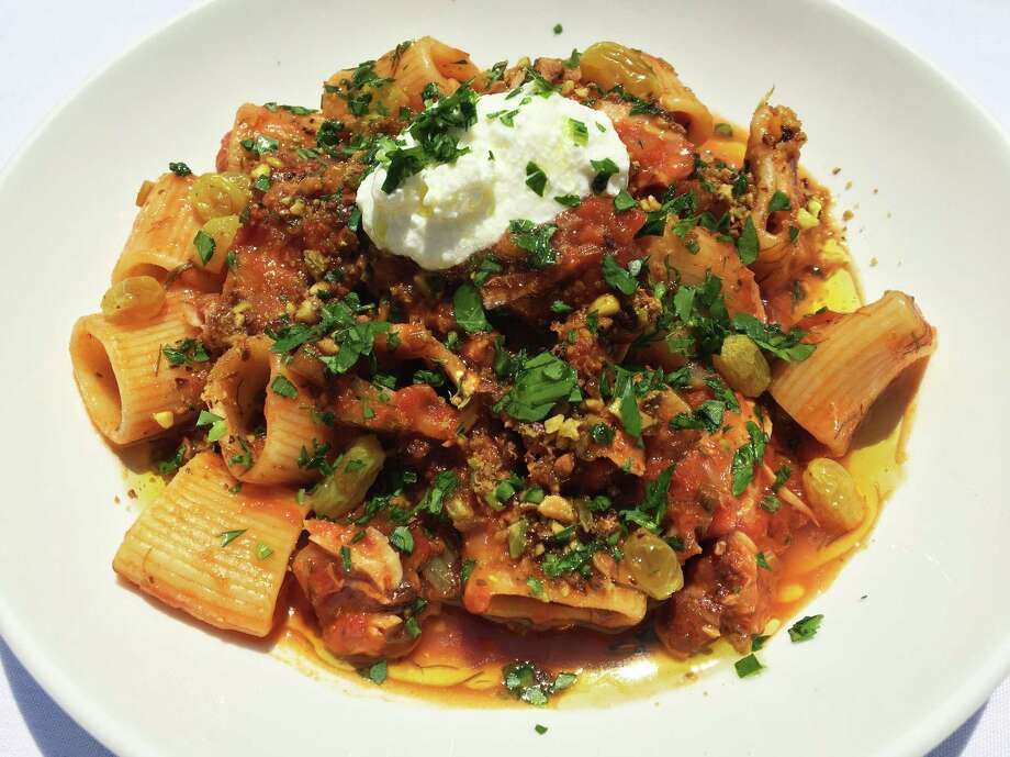 Rabbit ragu with rigatoni at Malcom's restaurant in Schenectady. (Photo courtesy Malcolm's.)