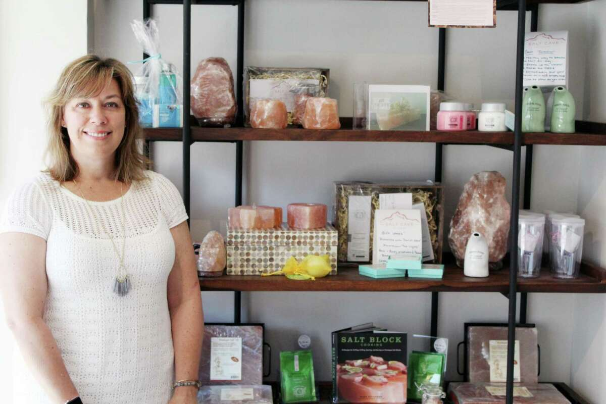 Arianne O'Donnell, owner of the Salt Cave of Darien. Taken Monday July 16.