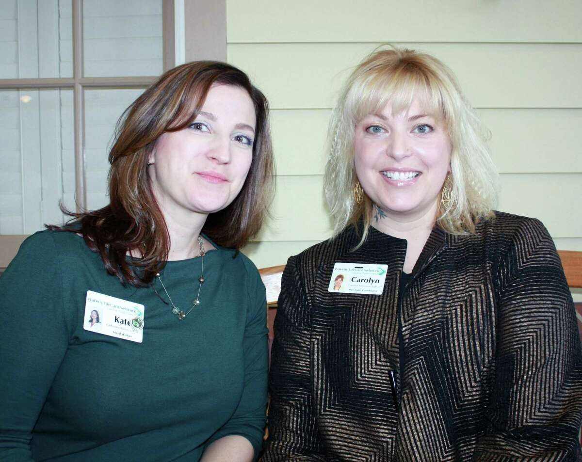 Waveny's caregiver support group, led by Kate Bacon, left, and Carolyn Antonion, focuses on the responsibility of caring for people with dementia.