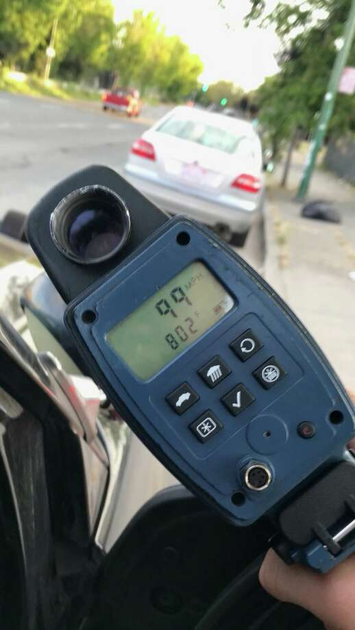 A man caught speeding tried to convince a Highway Patrol officer the speedometer reading was actually measuring the temperature, according to the California Highway Patrol. Click through the gallery for a roundup of reader-reported speedtraps in the Bay Area. Photo: CHP Oakland