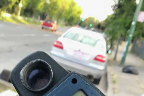 A man caught speeding tried to convince a Highway Patrol officer the speedometer reading was actually measuring the temperature, according to the California Highway Patrol.