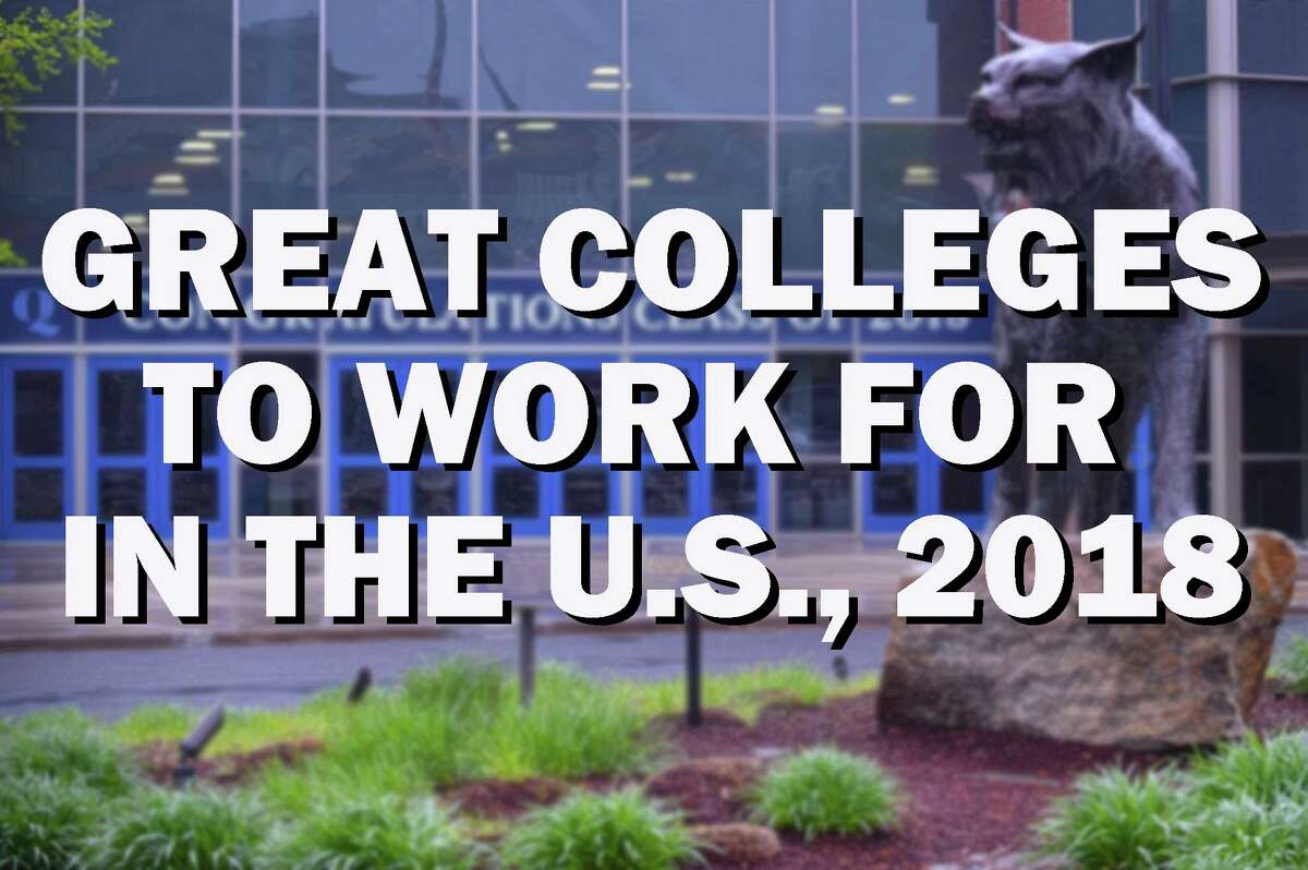 Click through for a list of colleges in the U.S., listed by The Chronicle of Higher Education, as great places to work in 2018.
