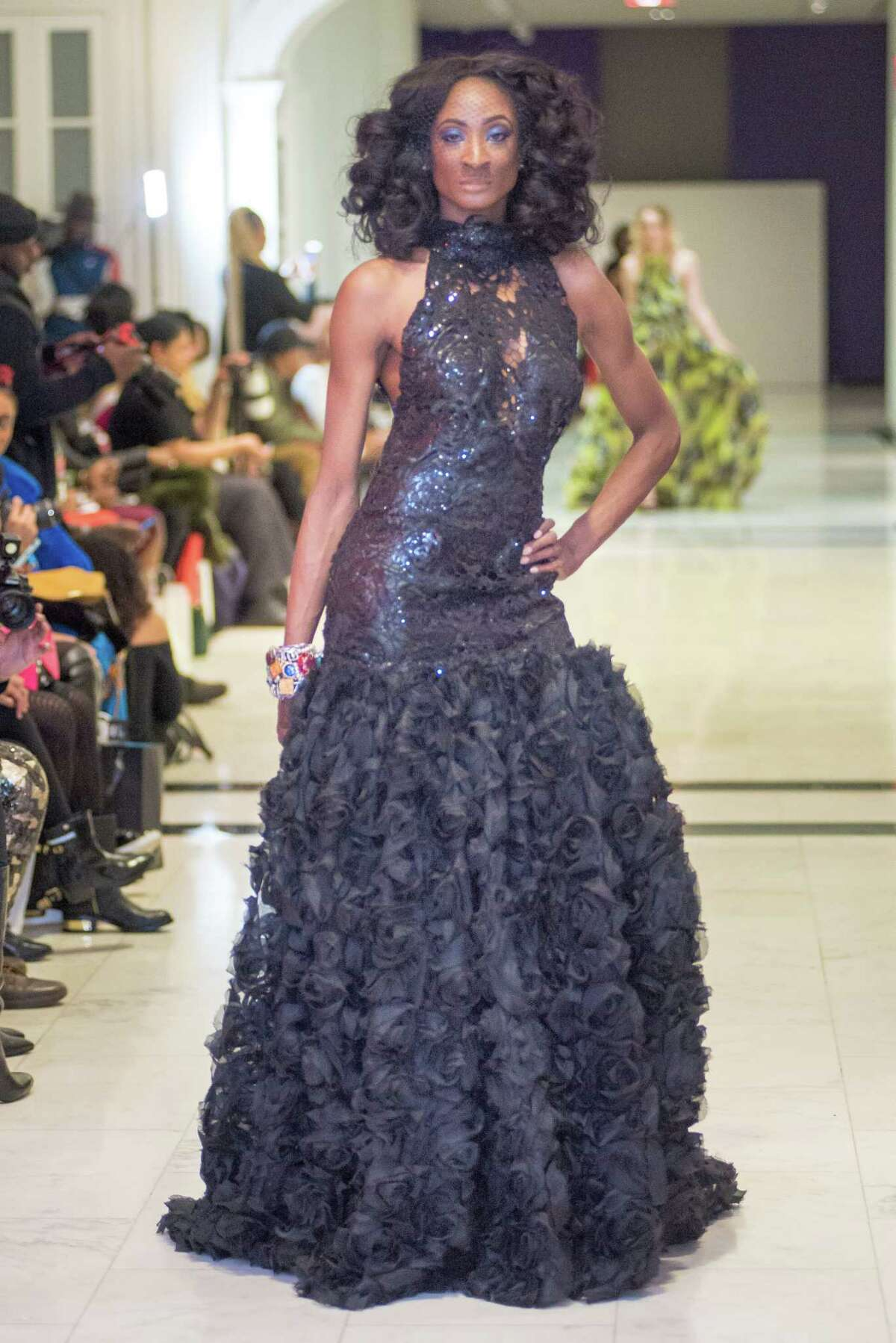 Clothing from Albany-based designer Daniel Mozzes, owner of Daniel Mozzes Design, was shown during Harlem Fashion Week in February. The show sets out to showcase emerging designers. (Thom Williams, TM Williams Photography)