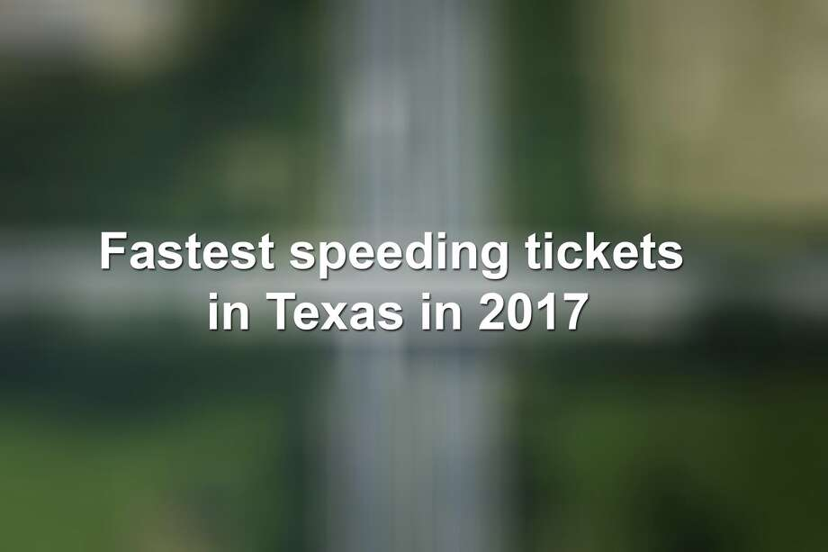 Texas' fastest speeding tickets of 2017