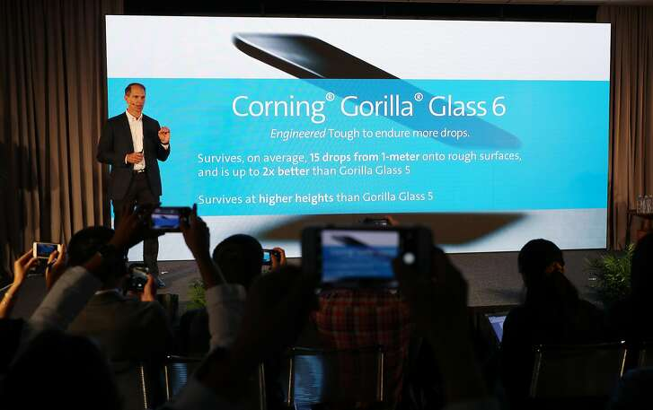 John Bayne, vice president, general manager of Corning Gorilla Glass, Introduces Gorilla Glass 6 at Corning Technology Center on Wednesday, July 18, 2018, in Sunnyvale, Calif.