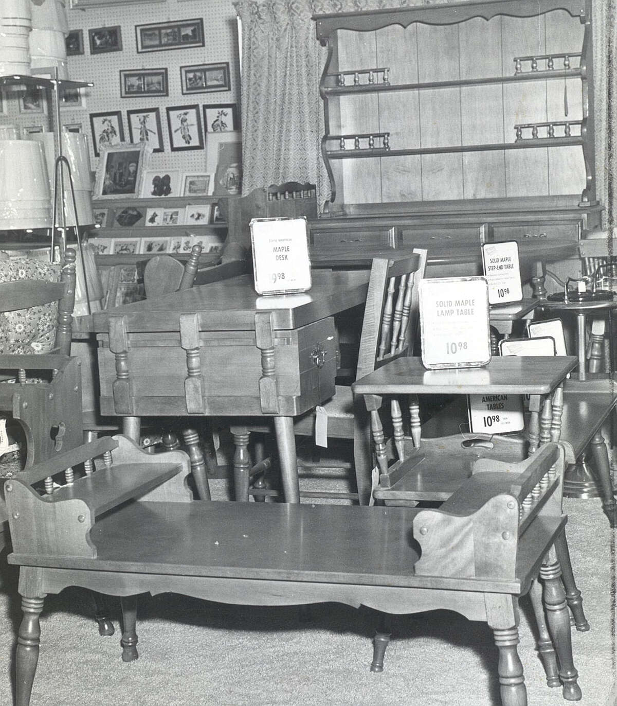 W.T. Grant Furniture at Stuyvesant Plaza, 1959.