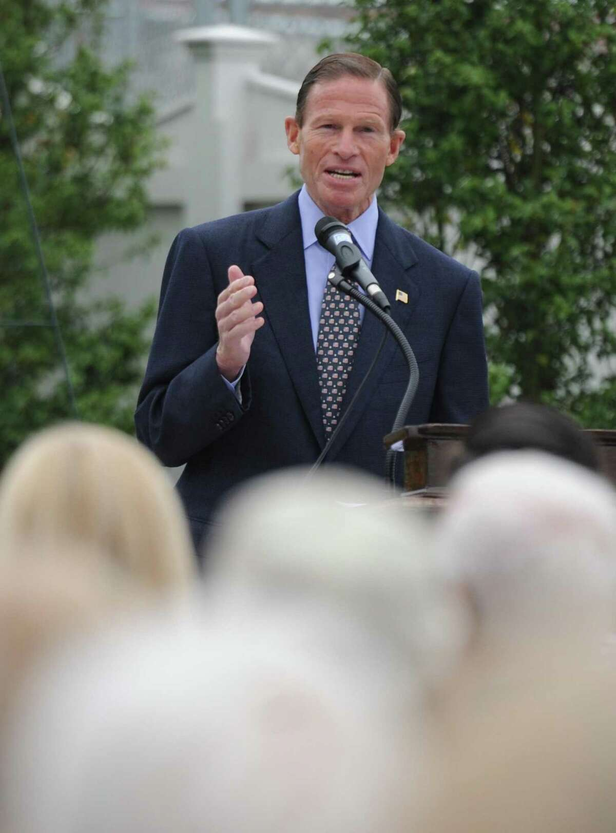 U.S. Sen. Richard Blumenthal in Greenwich in May.
