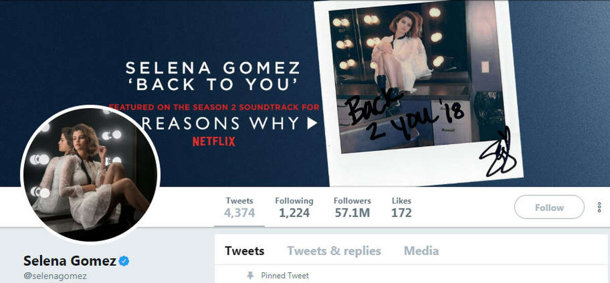 Selena Gomez Before: Had 57.1 million followers After: Lost about 1.2 million - has 55.9 million remaining
