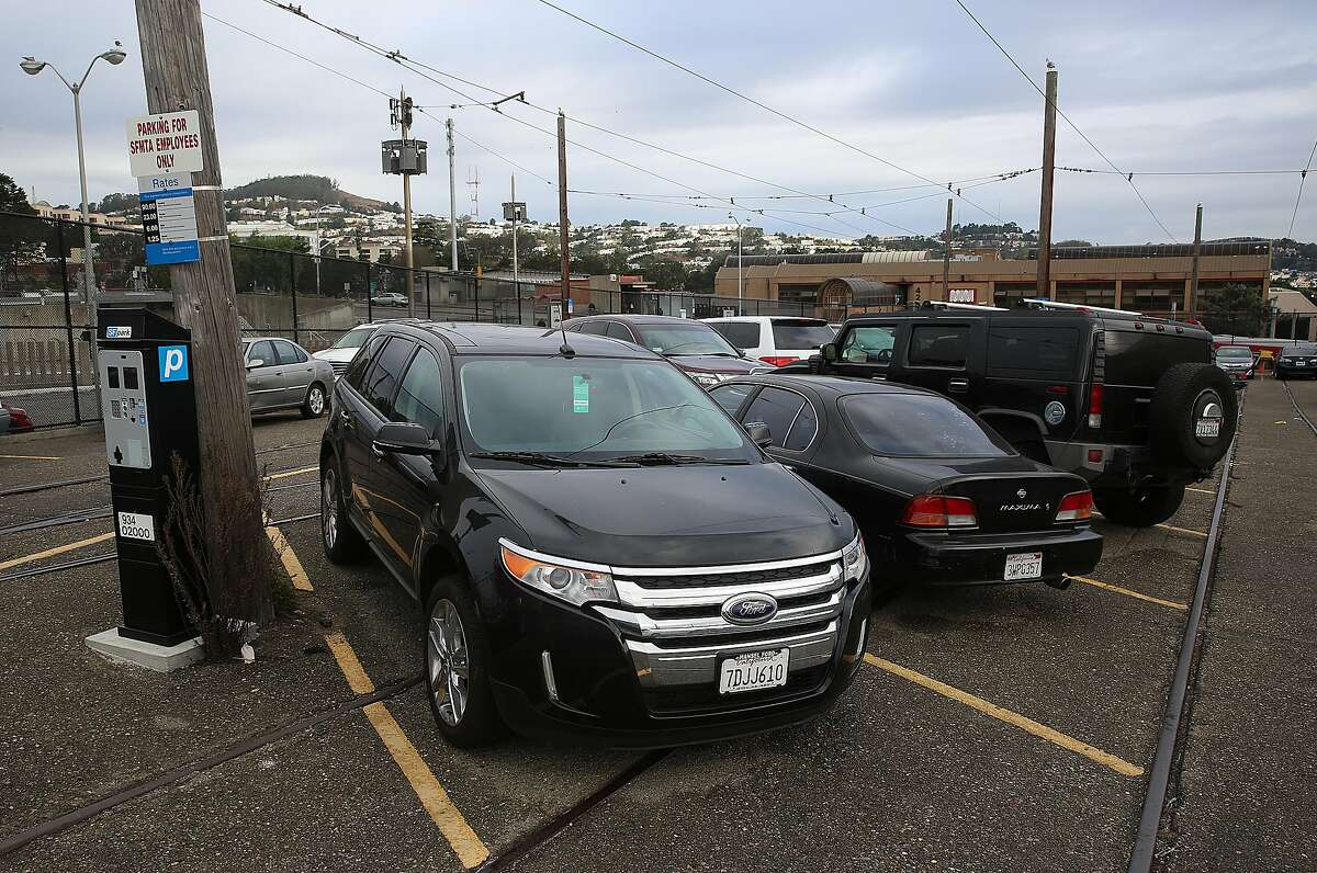 About a hundred units of affordable housing might replace this parking lot on the southwest corner of San Jose and Geneva avenues in San Francisco, Calif., on Tuesday, October 27, 2015.