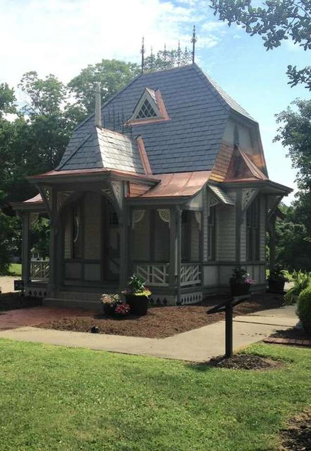 The annual Lucy Haskell birthday party, free and open to everyone, will run from 4 to 5:30 p.m. July 29 at Haskell Park, 1211 Henry St. Besides celebrating Lucy's birth on July 29, 1880, the lawn party also commemorates 133 years since her parents had the ornate playhouse, pictured, custom built for her fifth birthday party on July 29, 1885. Photo:     Linda N. Weller | The Telegraph