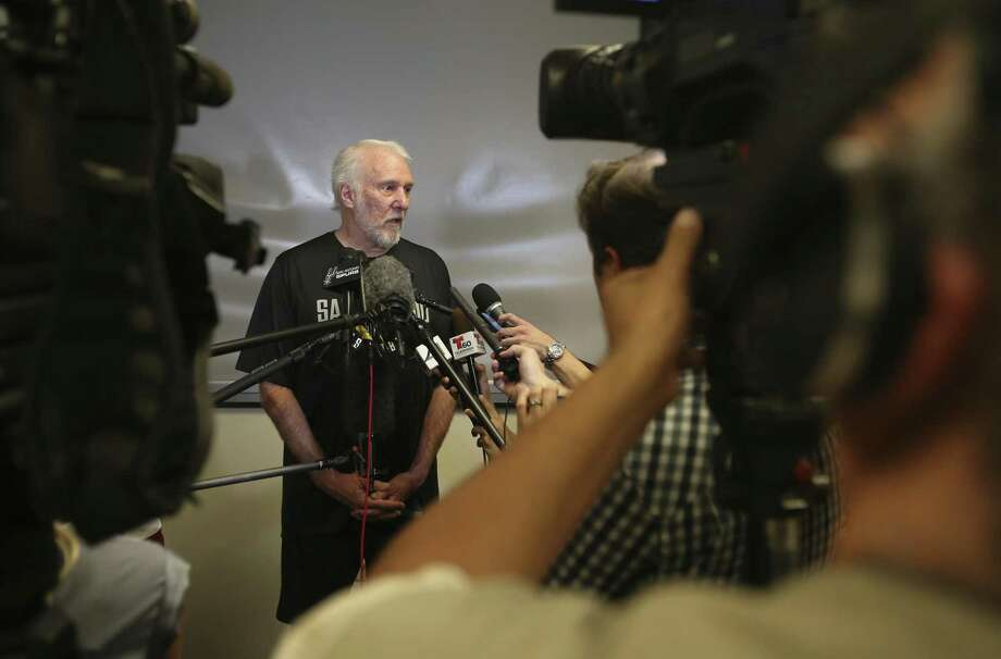 Gregg Popovich will return to the court for the first time after the death of his wife Erin in April. As the Team USA coach, he'll oversee two days of practices in Las Vegas for players vying to make the national team to play in the 2019 FIBA World Cup and 2020 Games. Photo: William Luther / Staff Photographer / © 2018 San Antonio Express-News