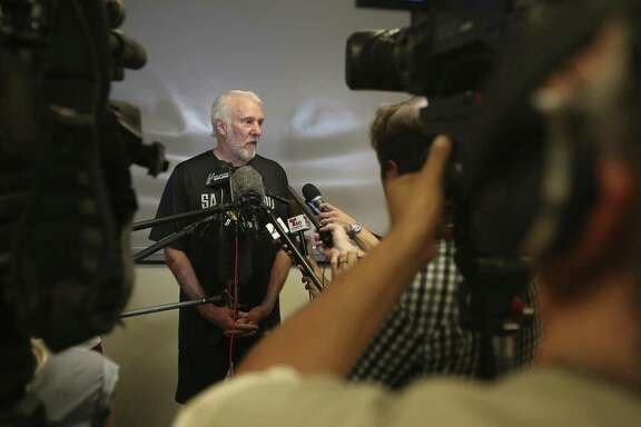 Gregg Popovich will return to the court for the first time after the death of his wife Erin in April. As the Team USA coach, he'll oversee two days of practices in Las Vegas for players vying to make the national team to play in the 2019 FIBA World Cup and 2020 Games.