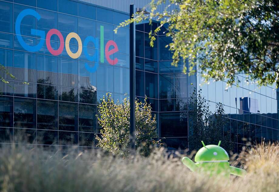 (FILES) In this file photograph taken on November 4, 2016,  a Google logo and Android statue are seen at the Googleplex in Menlo Park, California. Photo: JOSH EDELSON, AFP/Getty Images