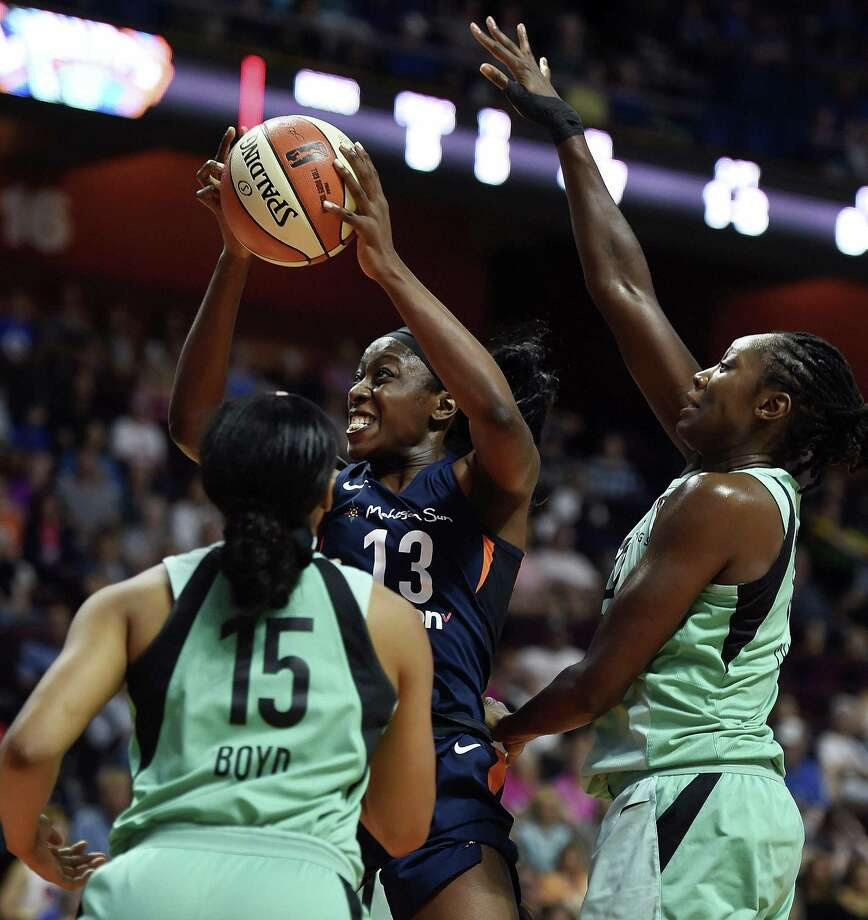 Connecticut Sun forward Chiney Ogwumike (13) was selected to play in the WNBA All-Star game. Photo: Sean D. Elliott / Associated Press / 2018 The Day Publishing Company