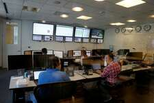 The master control room at StubHub is always busy. The offices of StubHub are off Howard Street in San Francisco, Calif. where they take up several floors over looking the new transit center.
