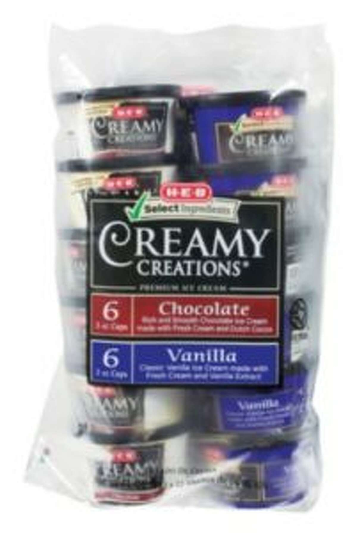 H-E-B has issued a recall for two types of Creamy Creations products: ice cream and sherbet variety packs.