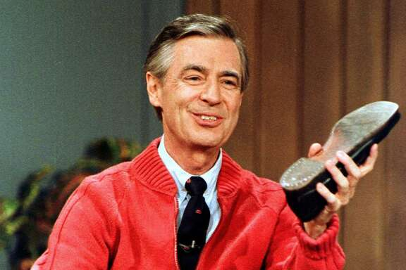 "Fred Rogers in 1989 as he rehearses the opening of his PBS show ""Mister Rogers' Neighborhood"" during a taping in Pittsburgh. A reader misses him."