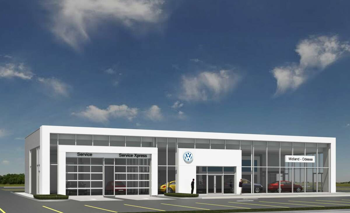This rendering provided by Volkswagen of Midland Odessa shows what the business' future dealership building will look like. A groundbreaking took place Thursday, July 19, 2018. The building is Volkswagen's