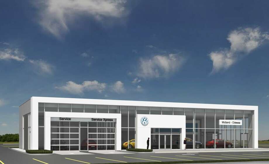"This rendering provided by Volkswagen of Midland Odessa shows what the business' future dealership building will look like. A groundbreaking took place Thursday, July 19, 2018. The building is Volkswagen's ""white frame"" design. Photo: Courtesy Volkswagen Of Midland Odessa"