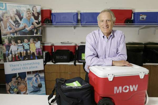 Joel Dinkin, CEO of Evelyn Rubenstein Jewish Community Center of Houston, provided supplies to the neighborhood despite the center's devastation, then got the programs up and running.