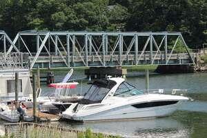 The William F. Cribari Memorial Bridge on a hot summer's day.