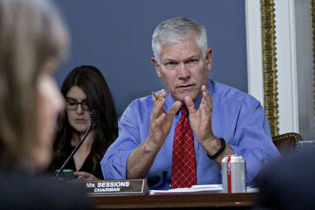 Rep. Pete Sessions, R-Texas, chairman of the House Rules Committee, speaks during a meeting on Monday. Sessions argued Wednesday that there was no need to increase federal funding for election security.