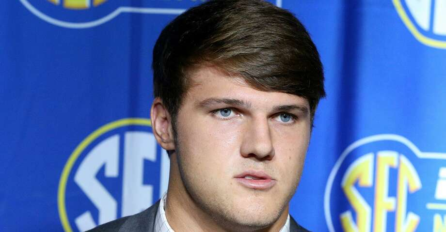 Mississippi State quarterback Nick Fitzgerald holds his SEC Media Days press conference at the College Football Hall of Fame on Wednesday, July 18, 2018, in Atlanta, Ga. (Curtis Compton/Atlanta Journal-Constitution/TNS) Photo: Curtis Compton/TNS