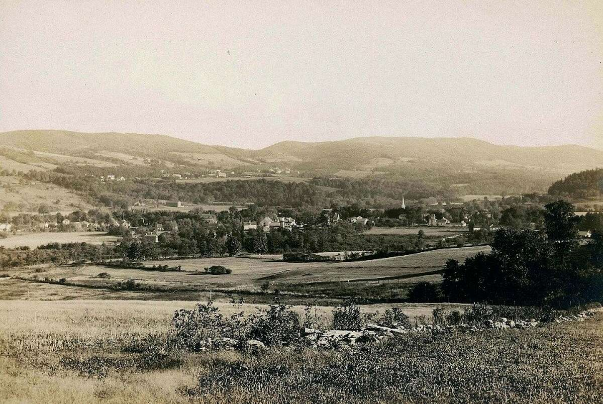The North Family Shakers' pastures, circa 1910, have grown to mature forest since this photo was taken by Lebanon Springs photographer, Howard Gillet. (Photo courtesty of Shaker Museum | Mount Lebanon)
