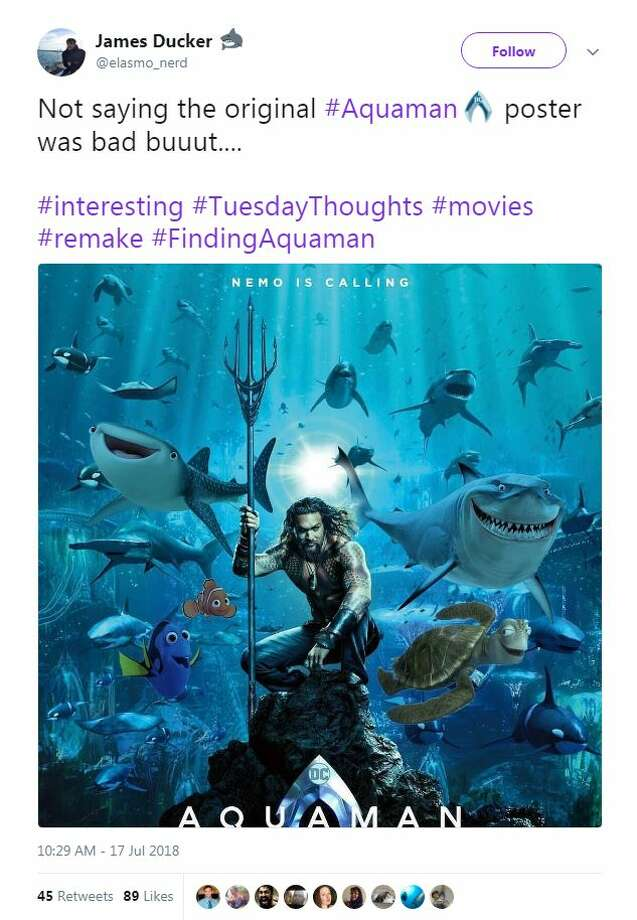People are roasting the new aquaman poster and comparing it to photo twitter altavistaventures Image collections