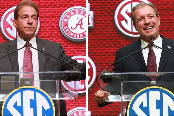 """""""He was a great offensive coordinator, a great playcaller,"""" Nick Saban said of Jimbo Fisher."""