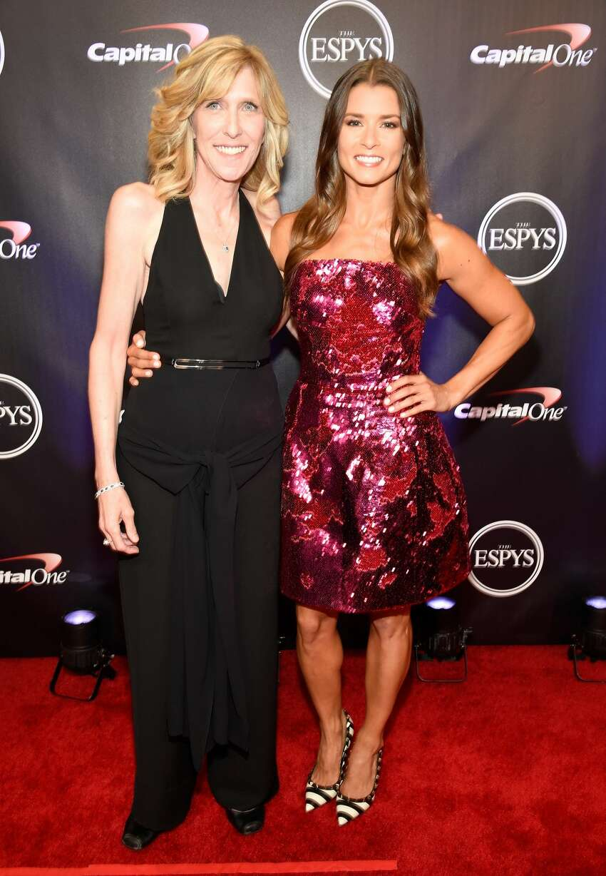 LOS ANGELES, CA - JULY 18: ESPYS executive producer Maura Mandt (L) and Danica Patrick attend The 2018 ESPYS at Microsoft Theater on July 18, 2018 in Los Angeles, California. (Photo by Kevin Mazur/Getty Images)