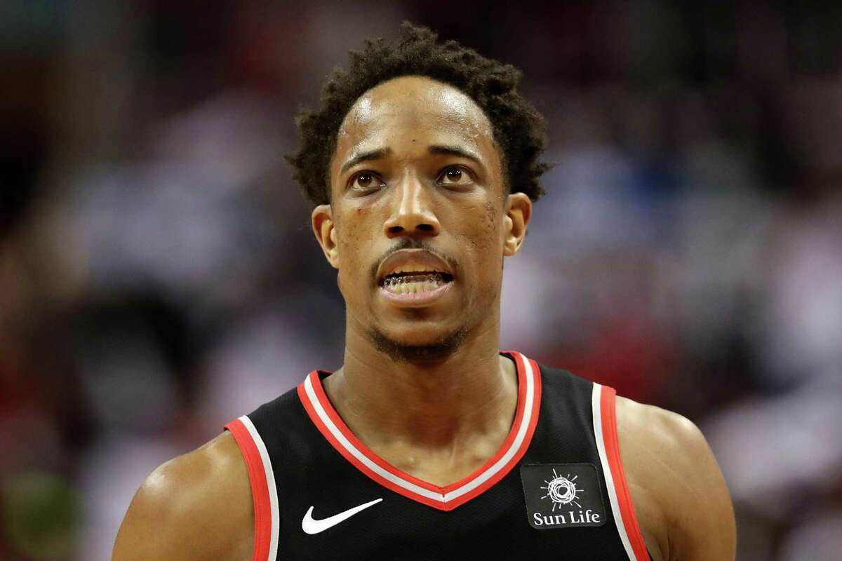 WASHINGTON, DC - APRIL 20: DeMar DeRozan #10 of the Toronto Raptors walks off the court during the closing minutes of their 122-103 loss to the Washington Wizards during Game Three of Round One of the 2018 NBA Playoffs at Capital One Arena on April 20, 2018 in Washington, DC. NOTE TO USER: User expressly acknowledges and agrees that, by downloading and or using this photograph, User is consenting to the terms and conditions of the Getty Images License Agreement. (Photo by Rob Carr/Getty Images)