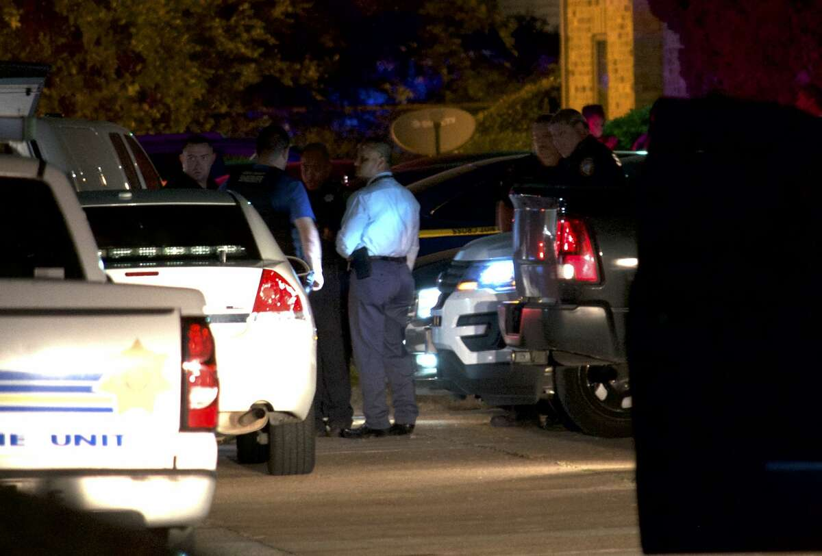 A pair of law enforcement officials fired on robbery suspects in northwest Harris County on Wednesday, July 18, 2018.