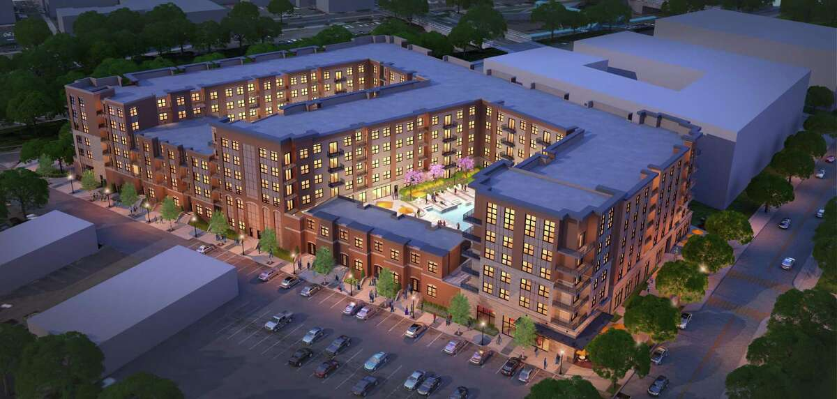 Sketch of the proposed 299 apartment complex on Union Street.