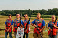 The Unionville - Sebewaing Area School District's Clay Target Club is less than a year old, but they did well in their first competitions. Team members who participated in the preliminary competition at the United States High School Clay Target League National Tournament were athletes (l-r) Avery Kuhl, Hunter Hines, Nick Ewald, Evan Volz, and Haleigh Holdwick.