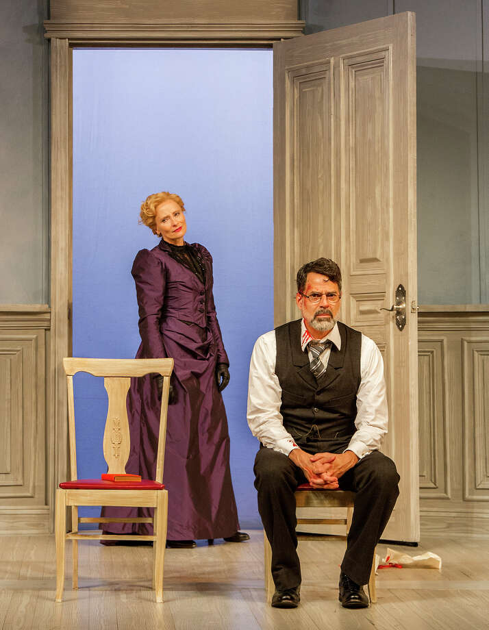 """Laila Robins and Christopher Innvar in Barrington Stage Company's production of """"A Doll's House Part 2."""" Photo: Daniel Rader"""