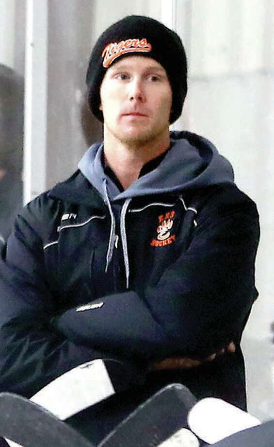 Edwardsville coach Jason Walker, whose team advanced to the USA Hockey High School Nationals for the third consecutive year, is the 2018 Telegraph Hockey Coach of the Year. Photo:       Telegraph File Photo