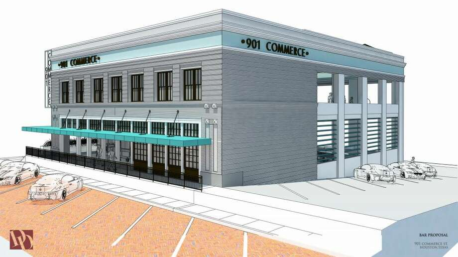 A rendering showing the proposed changes to the former Spaghetti Warehouse building at 901 Main St. Photo: City Of Houston/Diamond Development