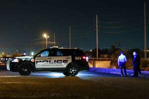 Laredo Police Officers respond to a report of a shooting at the intersection of Burnside Street and W. San Francisco Avenue on Tuesday, Jul 17, 2018.