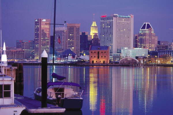 Inner Harbor Evening in Baltimore, Maryland